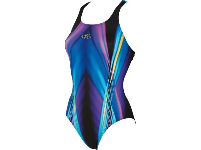 arena Iridiscent Swim-Pro Back Maillot de bain une pièce Femme, black-turquoise